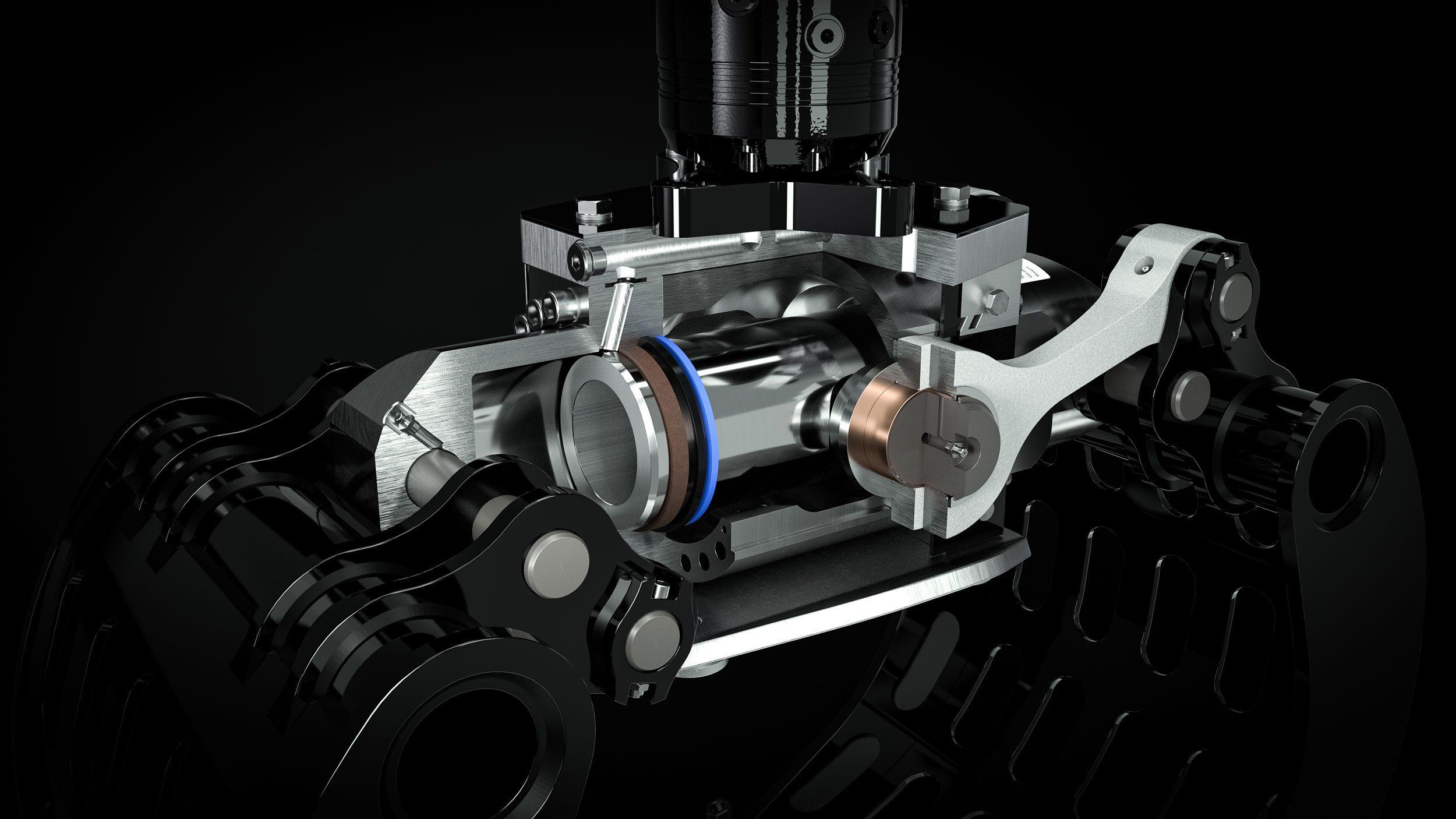 Hydraulikzylinder als Herzstück bei DMS