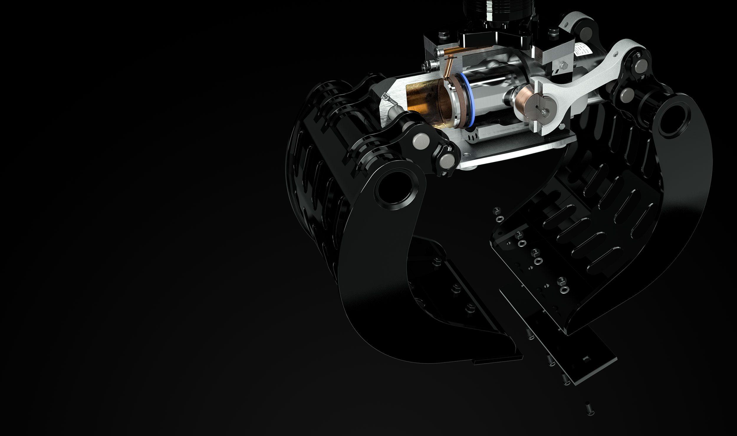 Abbruchgreifer Produktvorteile Hydraulikzylinder