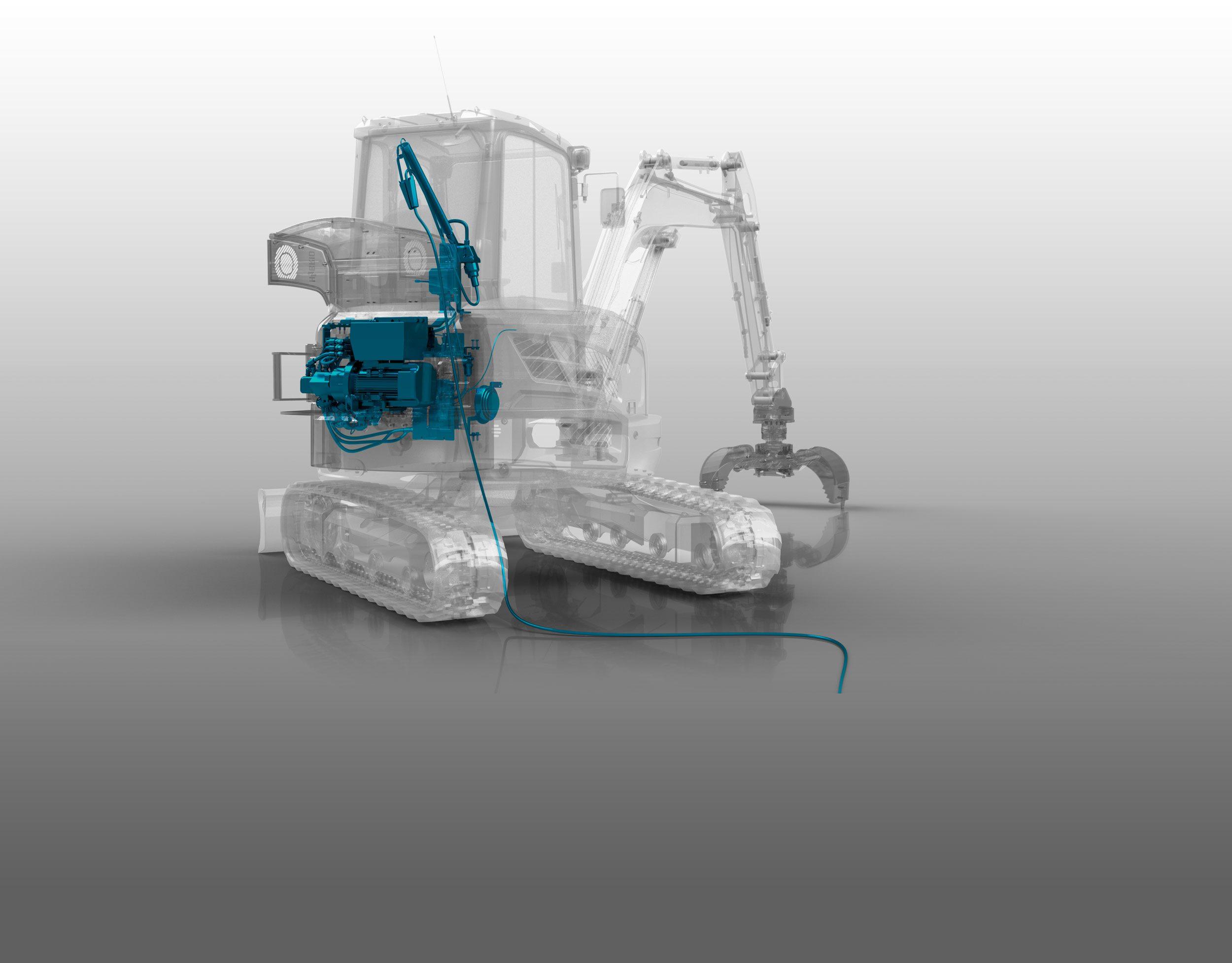 Hybridkit für Kompaktbagger und Minibagger